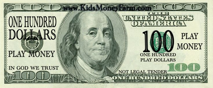 Print Fake Money For Sheets Of 1 00 Bills Click On The