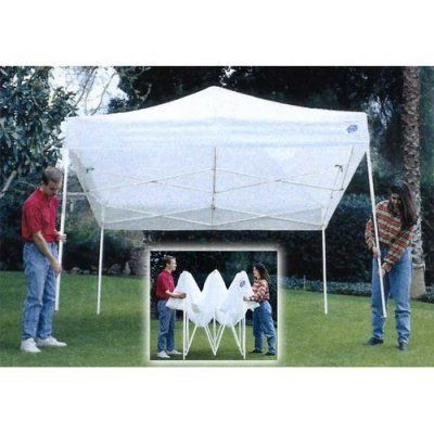 E-Z UP 10' x 10' Enterprise II Steel Frame Outdoor Canopy by International EZ UP Inc. $479.98. Ideal for outdoor venues parties and more the E-Z UP Enterprise II 10 x 10 Canopy is designed for dependable use. This shelter features a commercial-grade 500+ denier polyester top which stays attached to the frame for easy set-up and tear-down. The powder-coated rust-resistant steel frame opens to a full size of 10 x 10 feet (with a fully extended peak height of 11 feet 6 ...