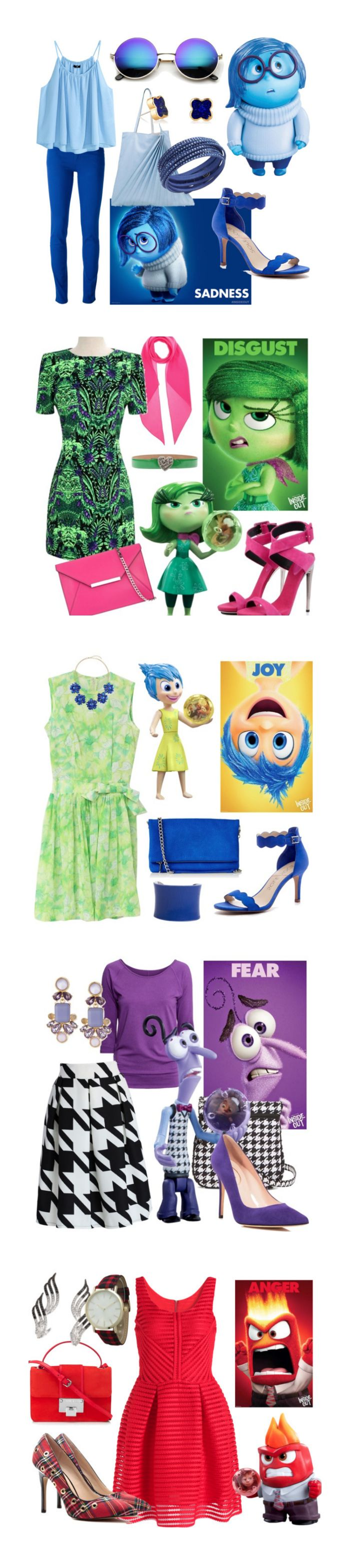 Inside Out Outfits Have not seen yet but will do soon!  - photo studio? Get the kids interacting and thinking about how they're feeling/ who their favourite character was