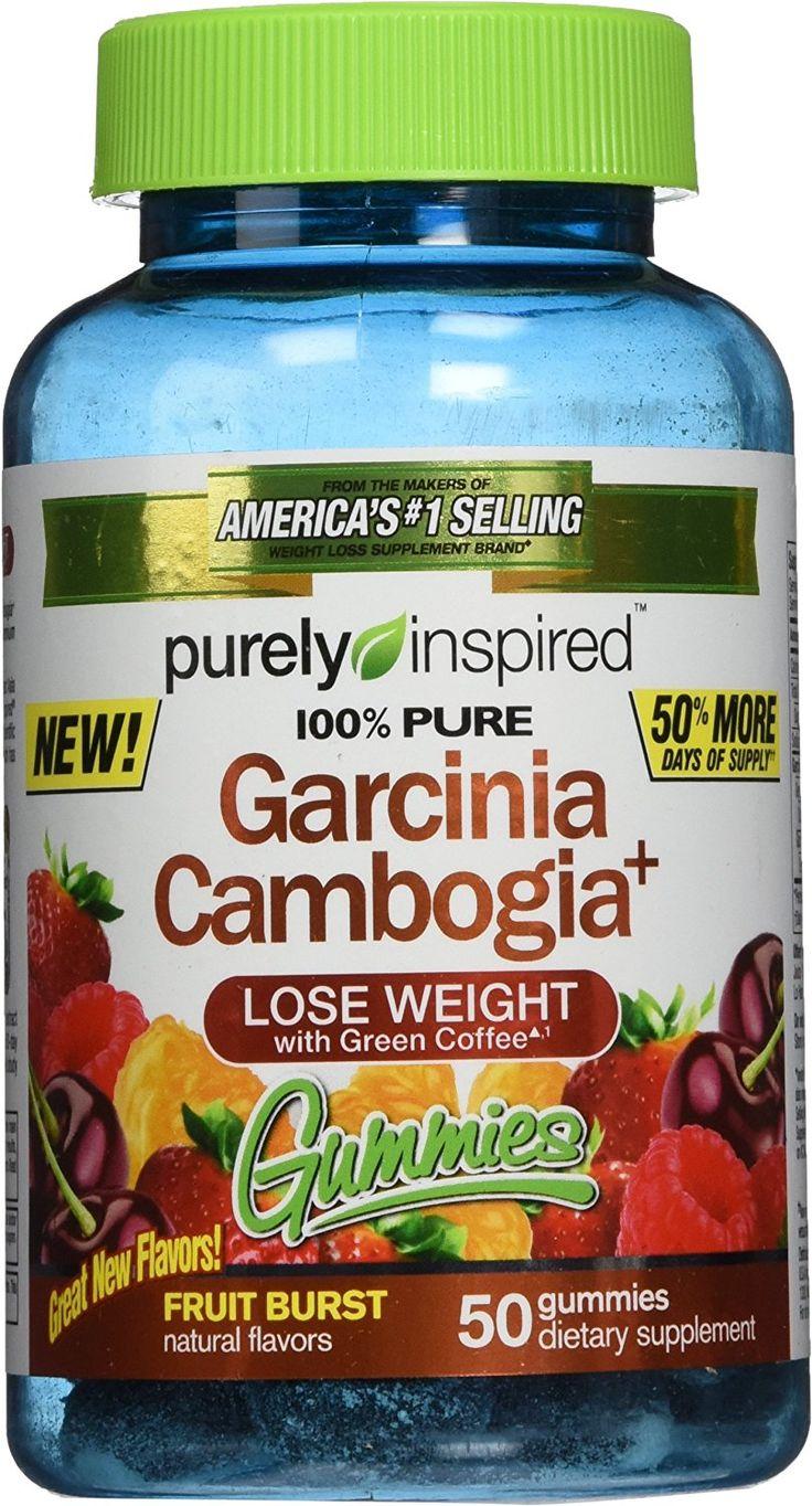 Purely Inspired Garcinia Cambogia Gummies Fruit Burst 50 Count