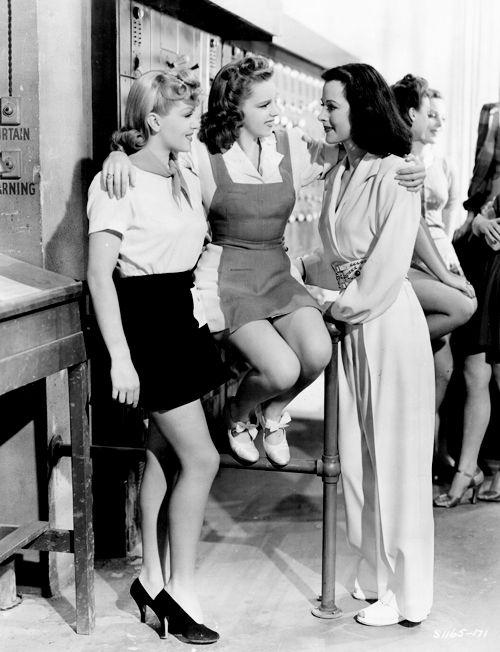 Lana Turner, Judy Garland, and Hedy Lamarr, 1941