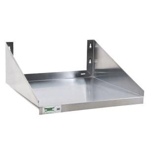 "24"" x 24"" Stainless Steel Microwave Shelf by Regency Space Solutions. $83.99. Mounting hardware not included. NSF Listed. 120 lb. capacity. 24"" x 24"" Stainless Steel Microwave Shelf"