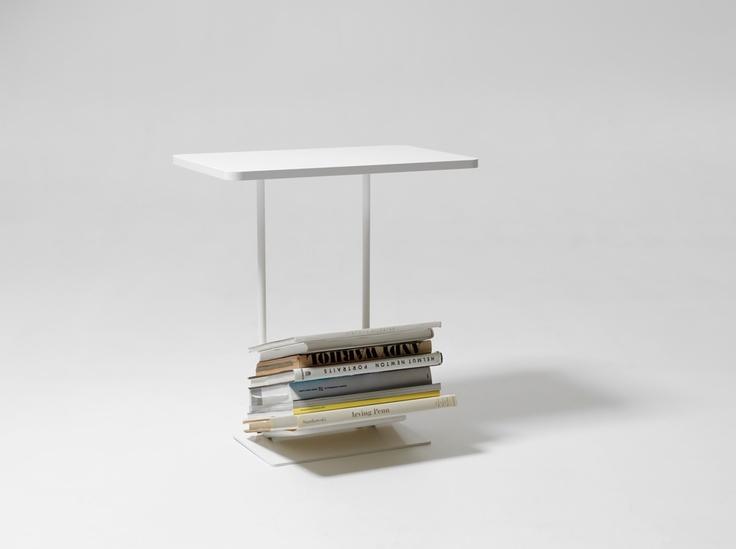 Magazine Table Side Table and Magazine Shelf from Design House Stockholm. Design by Axel Bjurström. #storage #magazine #design