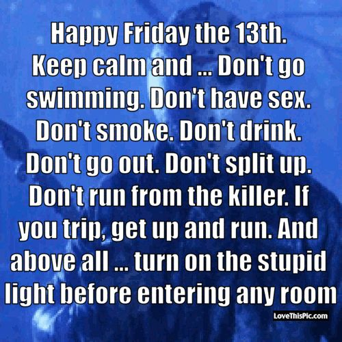 Happy Friday the 13th Keep Calm Jason Gif Quote