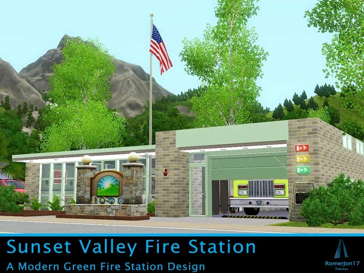 013: RomerJon17@MTS - Sunset Valley Fire Station (30x20) #Sims3