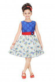 georgette party wear frock in red colour only for rs 992 only frocks - Colour Kid