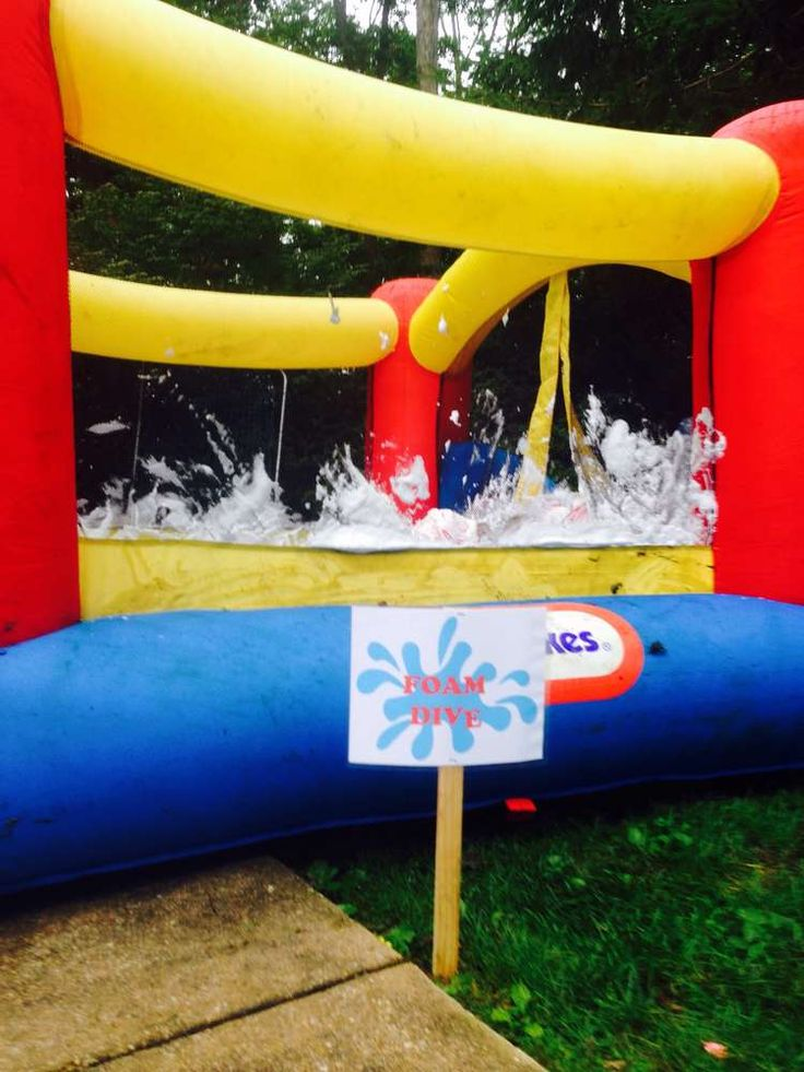 Connor's Wet & Wild Wipeout Party with detailed instructions for setting up obstacles
