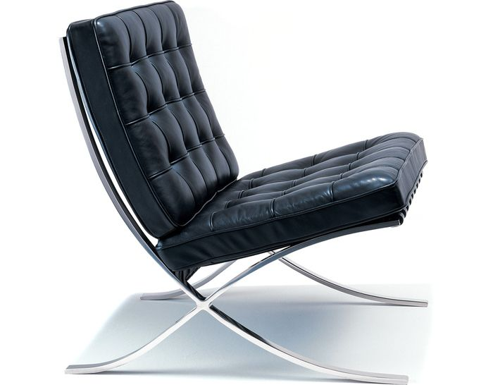 authentic knoll chrome plated barcelona lounge chair by ludwig mies van der rohe. Barcelona was created for the German Pavilion at the 1929 Barcelona Exposition