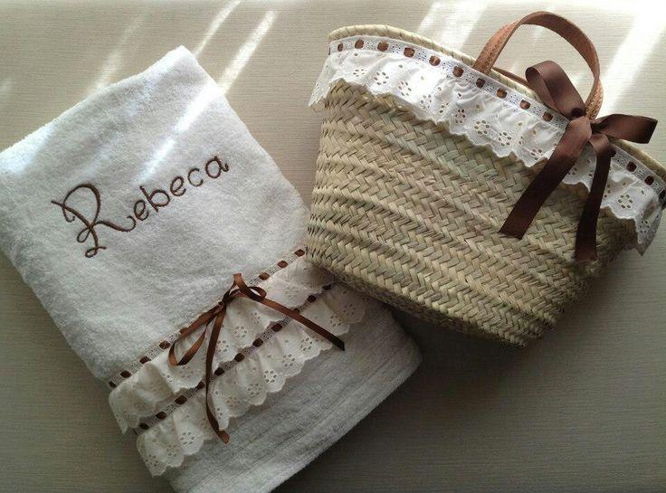 .toalla y cesta