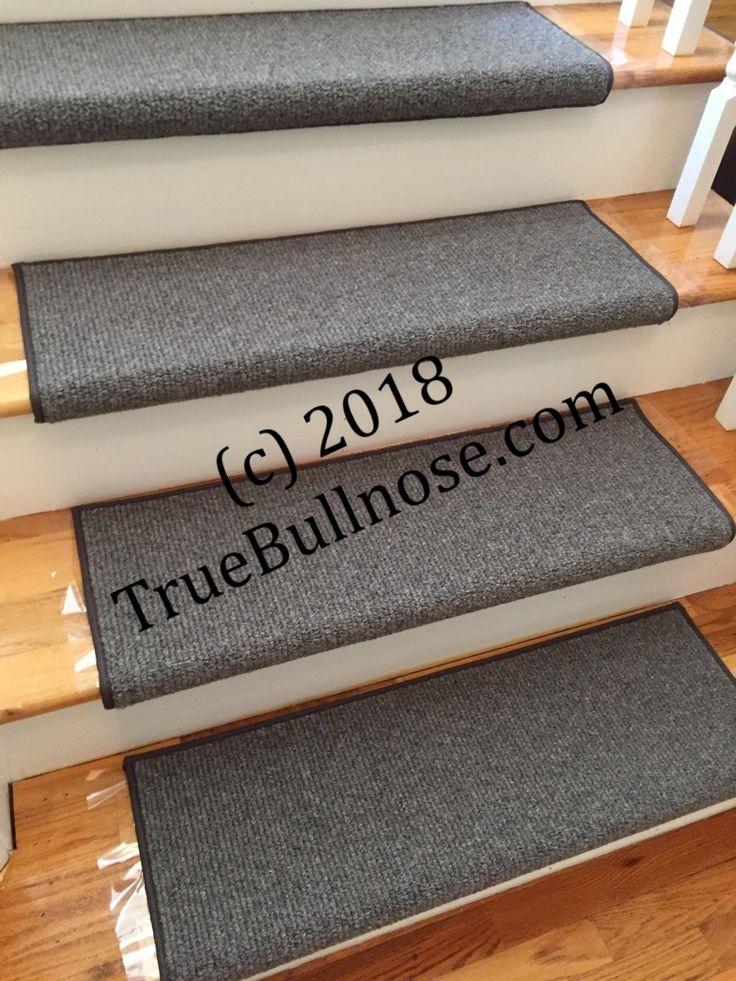 Best Heathercord Graphite Wool Blend Carpet Stair Tread Runner 400 x 300