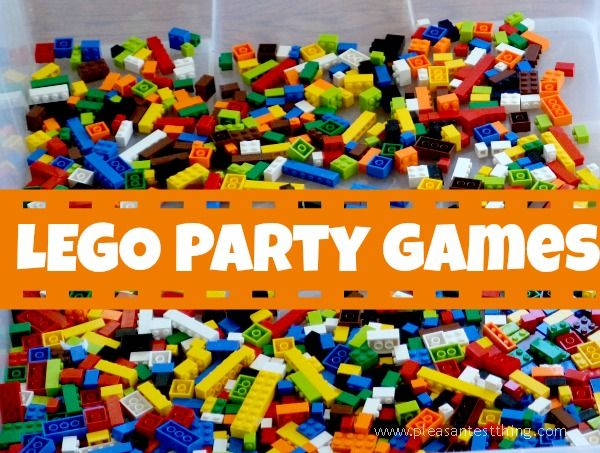 LEGO games and building ideas for a LEGO party