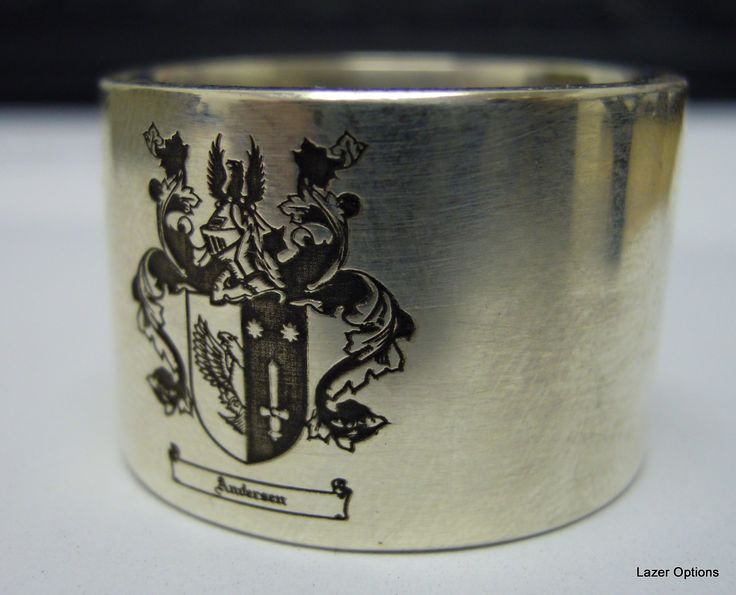 Coat of Arms on 9ct White gold Ring.