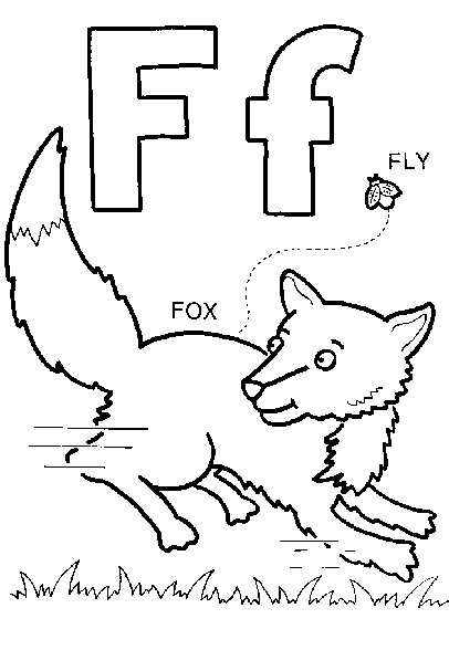 Letter F Coloring Pictures : 32 best letter f images on pinterest