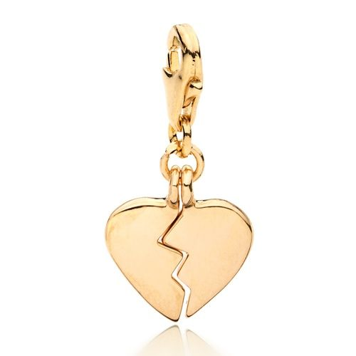 Mendable Hearts Charm Gold Plated