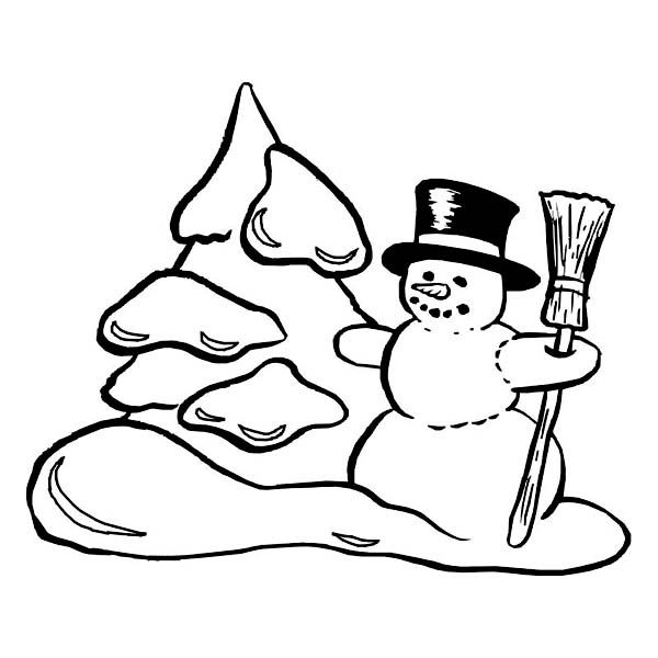 Mr Snowman On Christmas Touching A Snowflake Coloring Page: Best 25+ Snowman Coloring Pages Ideas On Pinterest