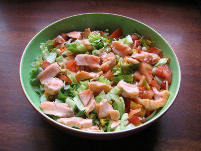 ¡Mira lo que voy a cocinar! Receta de ensalada de salmón