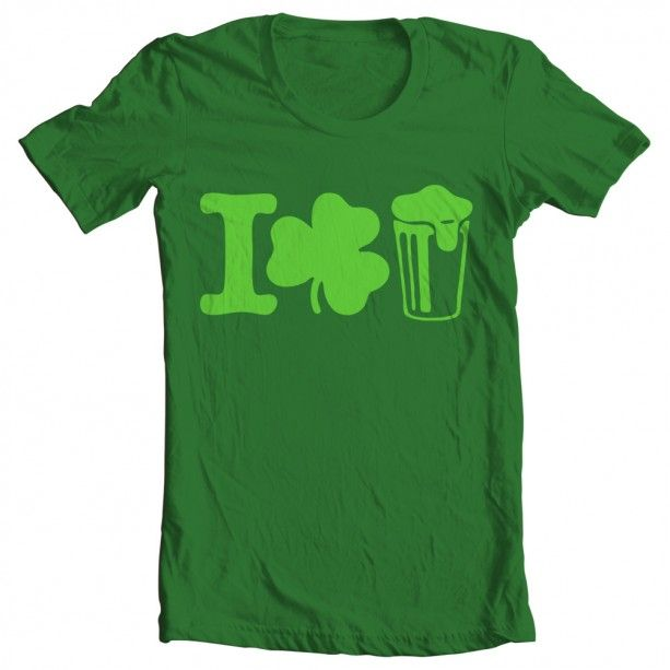 """With this shirt you won't even need to ask for a beer this St. Patrick's Day. A St. Patrick's Day """"I Shamrock Beer"""" Tee."""