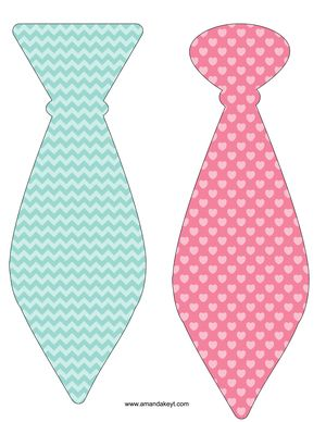 Ties from Baby Owl Look Whoo Shabby Chic Printable Photo Booth Prop Set