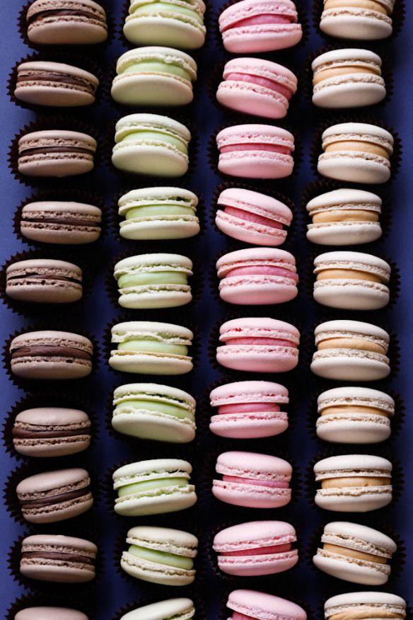 macaron recipe with a few different flavored fillings