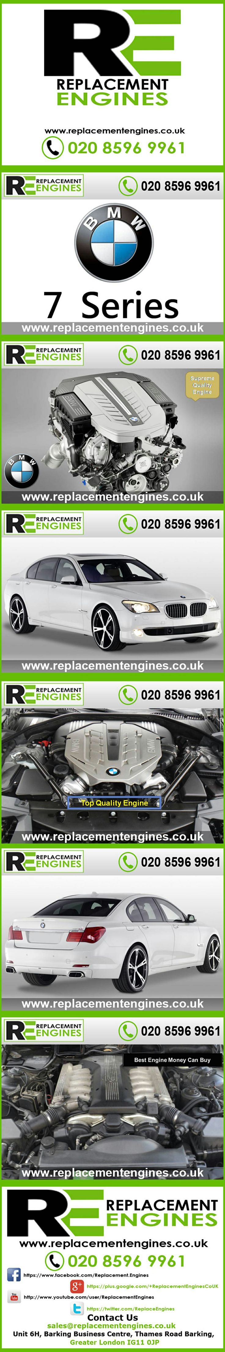 BMW 7 Series Engines for sale at the cheapest prices, we have low mileage used & reconditioned engines in stock now, ready to be delivered to anywhere in the UK or overseas, visit Replacement Engines website here.  http://www.replacementengines.co.uk/car-mk.asp?part=all-bmw-engine