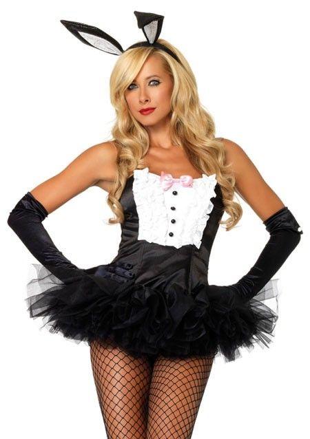 tuxedo bustier 3122 - Halloween Costume Playboy Bunny