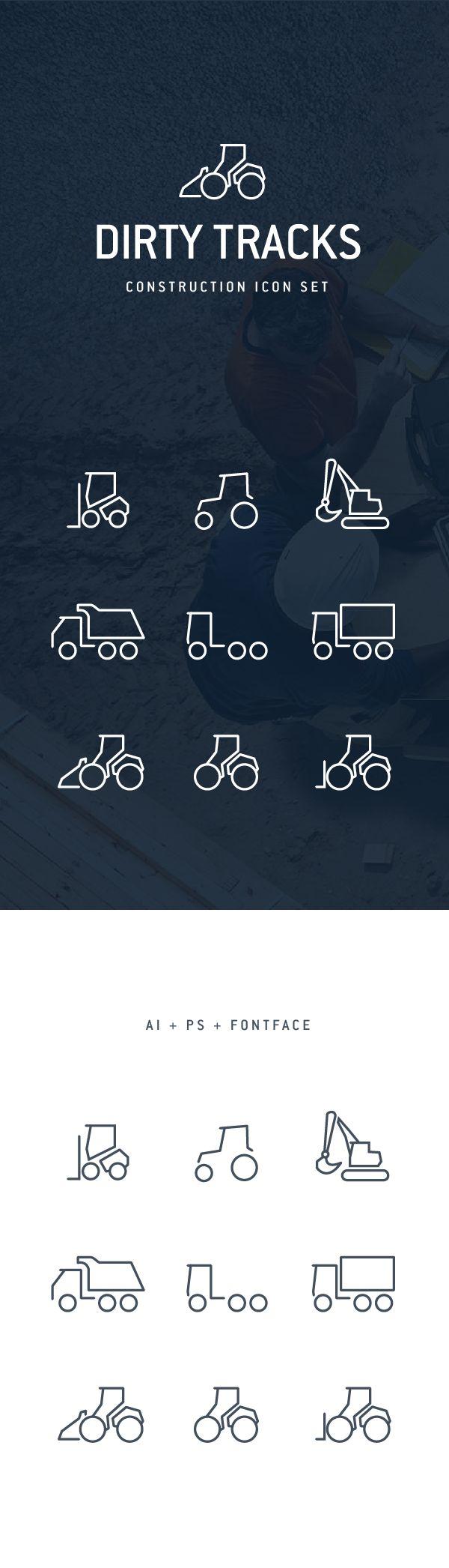 Dirty Tracks Free Flat Icon Set on Behance