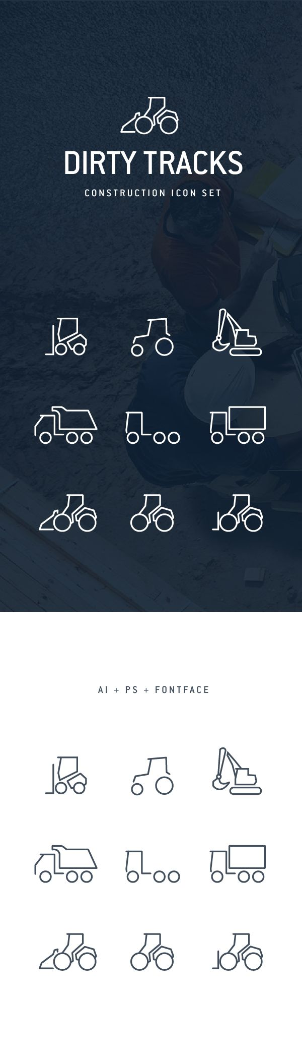Dirty Tracks Free Flat Icon Set on Behance