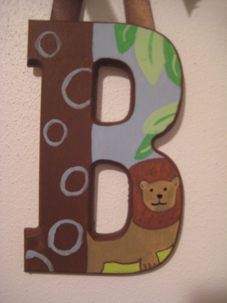 closeups of painted wooden letters