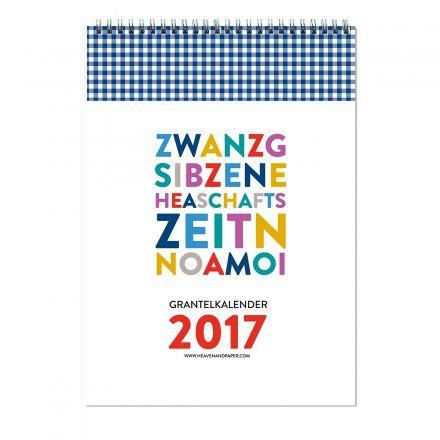 """Bayrischer Grantelkalender 2017 jetzt im design3000.de Shop kaufen! Die Bayern, sie sind schon so ein Volk. Und sie """"Granteln"""" halt gerne (granteln =..."""