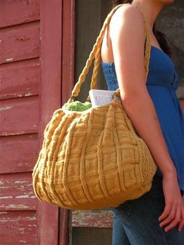 Free knitting pattern for Big Honkin Bag