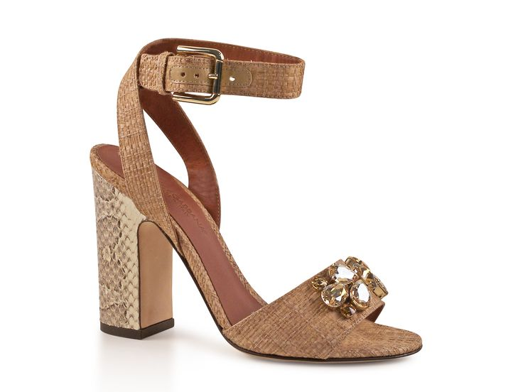 Dolce & Gabbana natural raffia and python high heel sandals - Italian  Boutique €387