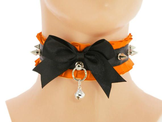 Orange satin lace Day Collar kitten play Collar Choker DDLG  #kittenplay #petplay #ddlg #petplaycollar #bdsmcollar #bdsm #bondage #kittenplaycollar #kittenplaygear #petplaygear #bdsmcommunity #kittenplaycommunity #petplaycommunity #ddlglifestyle #daddydomlittlegirl #abdl #domination #submission #dominant #submissive #kawaii #lolita #daycollar #bdsmgear #domme #cgl #ddlb #mdlg #mdlb #littlespace #ddlgcollar