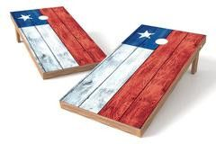 Chile Flag Single Cornhole Board-Vintage