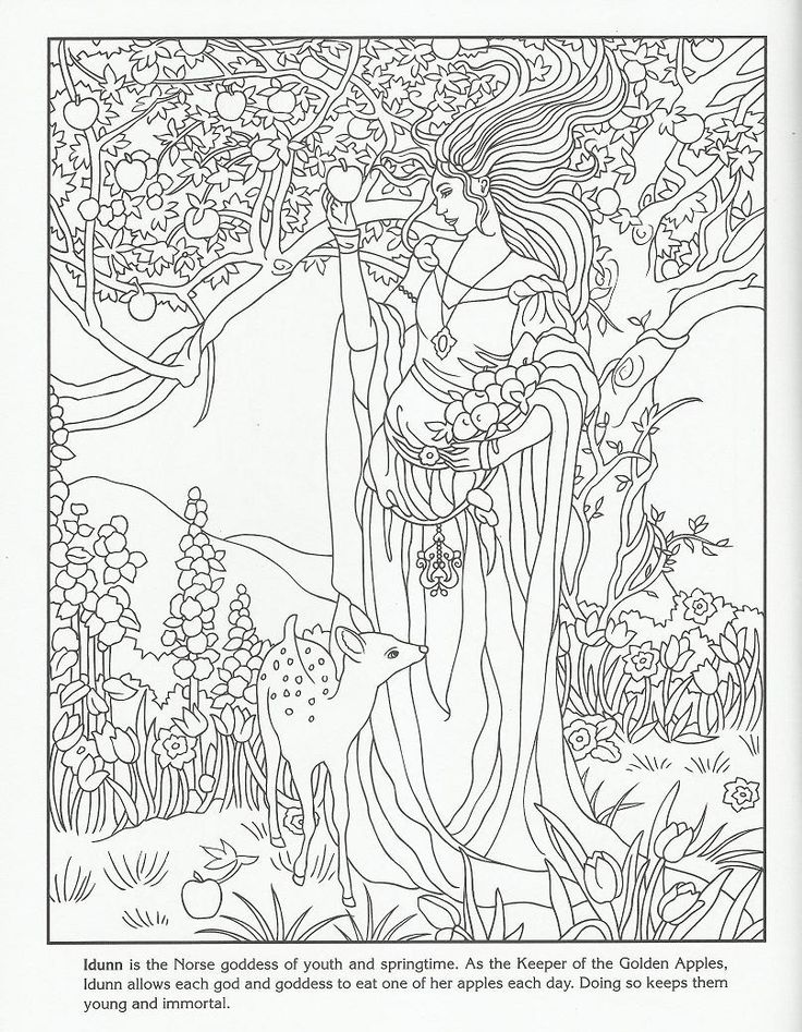 Goddesses Coloring Book From Dover Publications