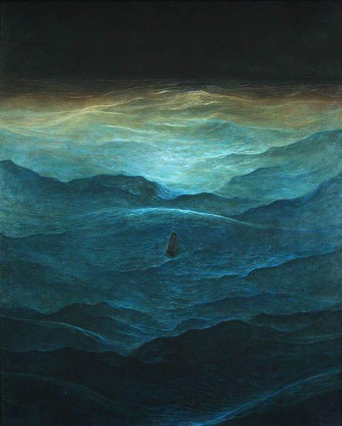 ...Surf Art, Surfart, The Ocean, Ocean Waves, Zdzislaw Beksinski, Zdzislaw Beksinski, Zdislav Beksinski, Art Painting, The Sea