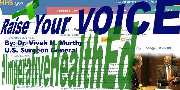 Article on mental health by the U.S. Surgeon General, Vivek Murthy