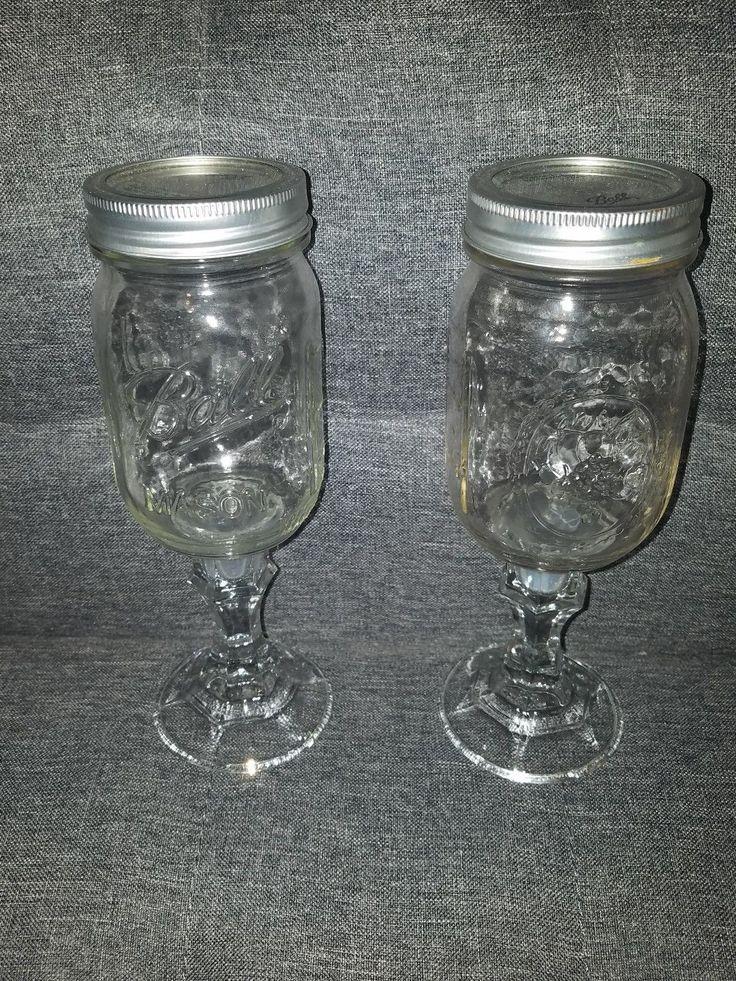 Ball Jar Wine Gles Easy Craft Ideas