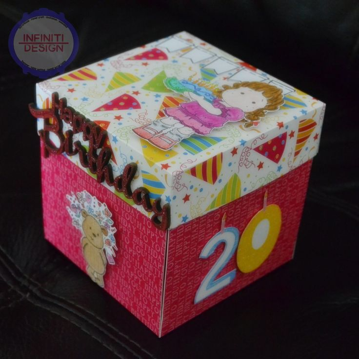"""birthday exploding box using DCWV """"birthday stack"""""""
