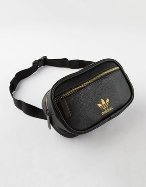 a23a8343dee5a ADIDAS Originals Pebbled Faux Leather Fanny Pack