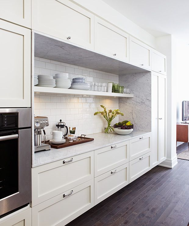 The Benefits Of Open Shelving In The Kitchen: Photos : 40 Cuisines à étagères Ouvertes