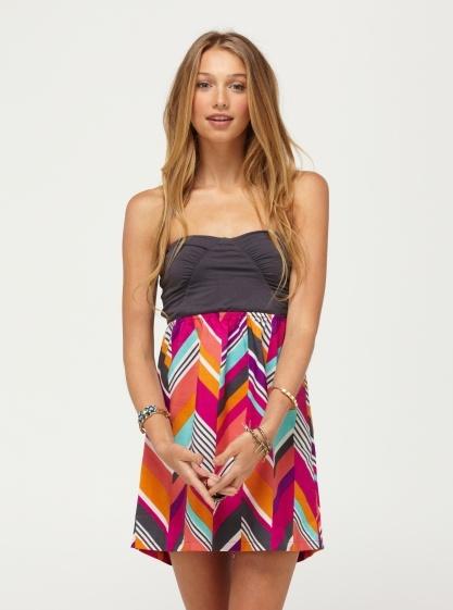 Savage 2 Dress - Roxy.. Fuschia Print