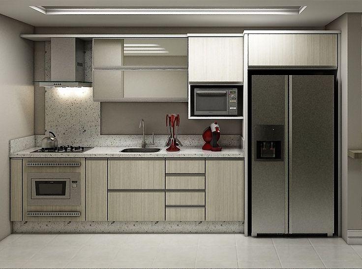 Alacena heladera + cocina
