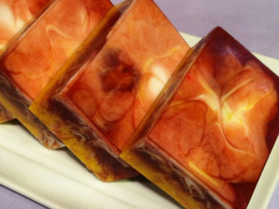 Patchouli Orange Bar Soap. Deep, beautiful color
