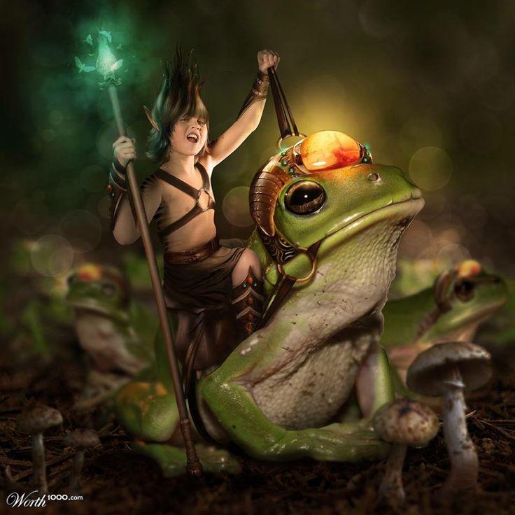 Frog prince by Marleen Vorster (MadameThenadier) made for Worth1000