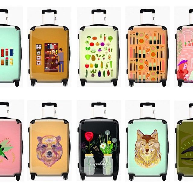 I recently partnered with Ikase. Here are some of the suitcases we made! #luggage #vector #illustrator