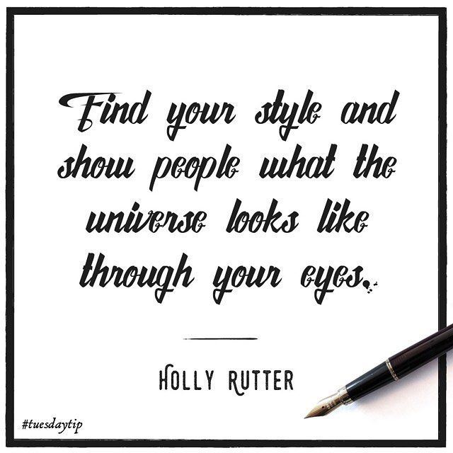 Holly knows that you have to trust your own creative vision. #TuesdayTip #illustration #typography #lettering #illustrator #design