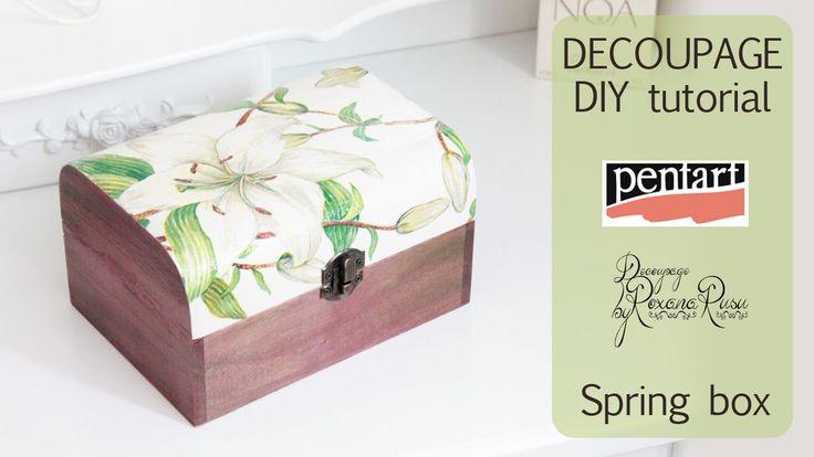 DECOUPAGE TUTORIAL - DIY spring box