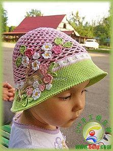 Gorro de primavera. Crochet spring hat.