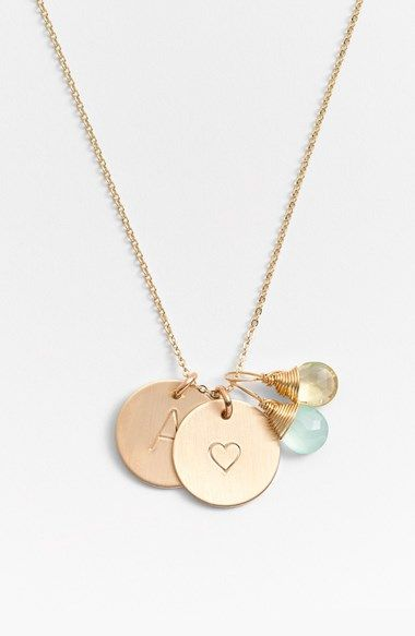 Free shipping and returns on Nashelle Aqua Chalcedony, Lemon Quartz, Initial & Heart 14k-Gold Fill Disc Necklace at Nordstrom.com. From humble beginnings to a fully staffed warehouse in Bend, Oregon, Nashelle remains true to its original purpose—handmade jewelry crafted with love and intention. Two dainty wire-wrapped gemstones add color and dazzle to a keepsake necklace with additional initial pendants.