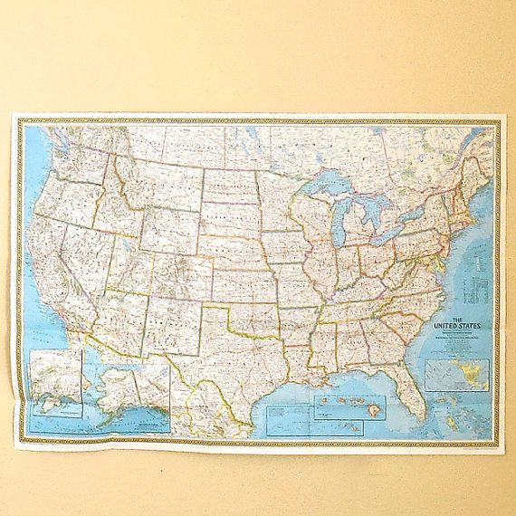 Best Creative Uses For Old Maps Images On Pinterest Vintage - National geographic us map